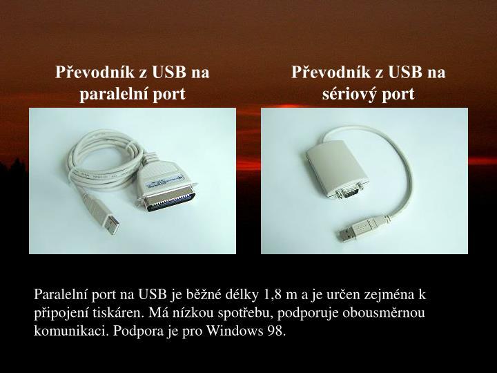 Převodník z USB na paralelní port