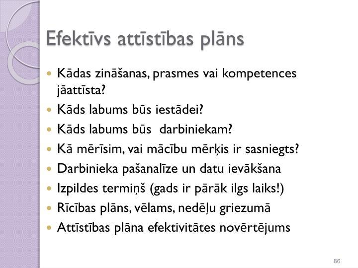 Efektīvs attīstības plāns