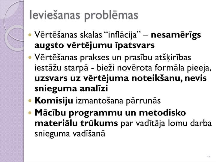 Ieviešanas problēmas