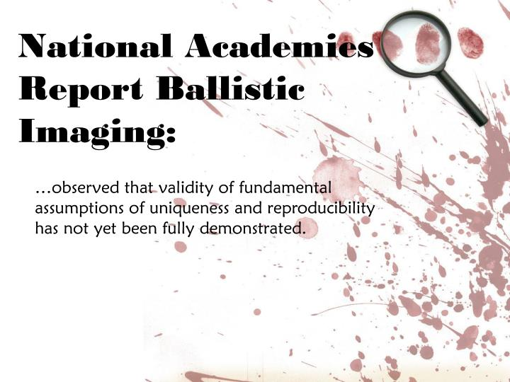 National Academies Report Ballistic Imaging: