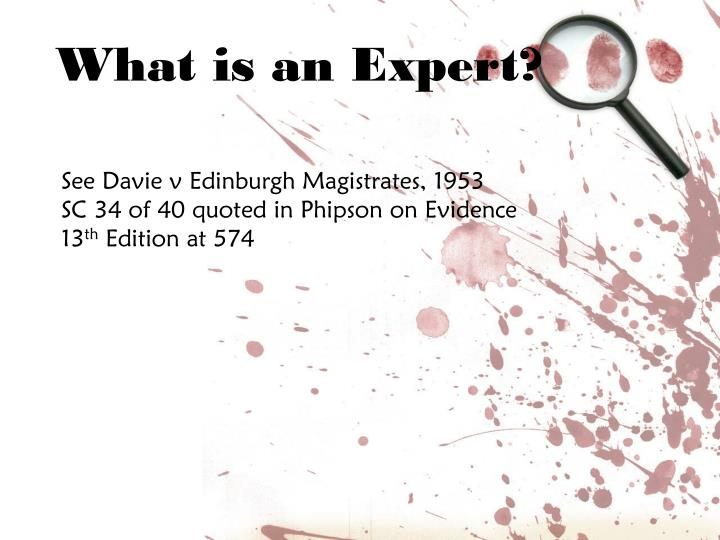 What is an Expert?