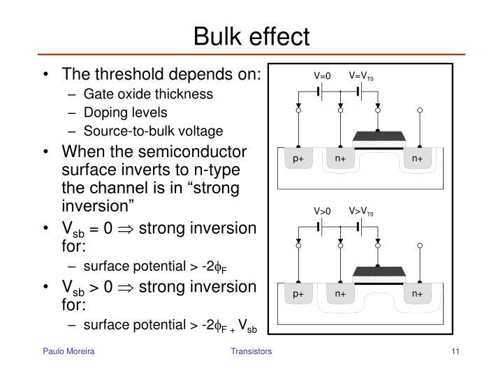 Bulk effect