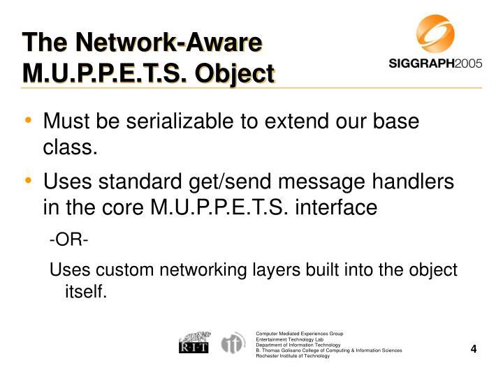 The Network-Aware M.U.P.P.E.T.S. Object