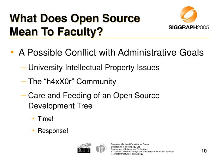 What Does Open Source Mean To Faculty?