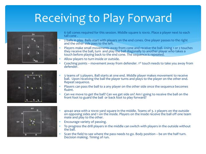 Receiving to Play Forward