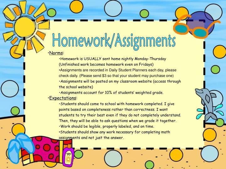 Homework/Assignments
