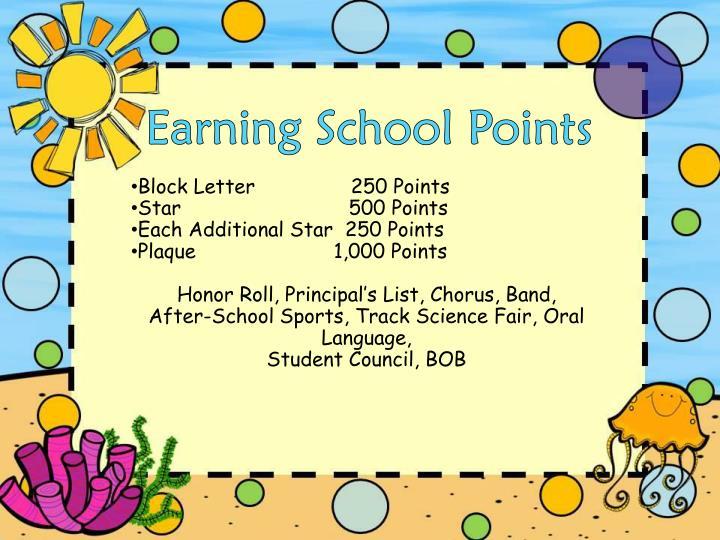 Earning School Points