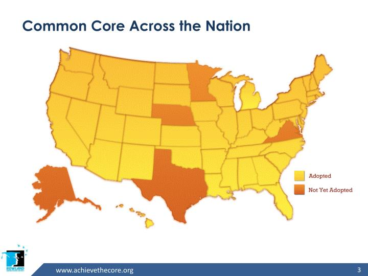 Common core across the nation