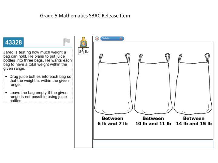 Grade 5 Mathematics SBAC Release Item