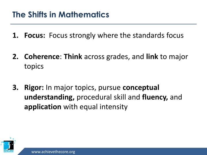 The Shifts in Mathematics