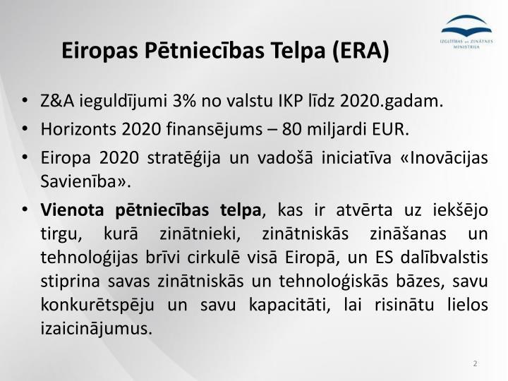 Eiropas Pētniecības Telpa (ERA)