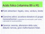 acido folico vitamina b9 o m