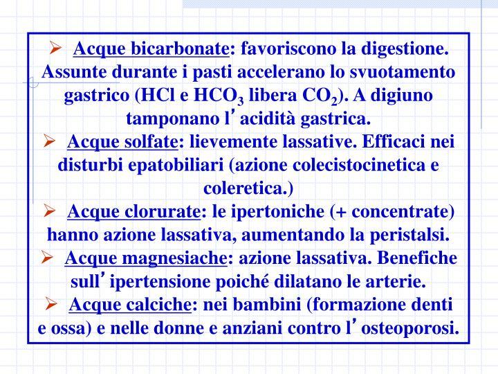 Acque bicarbonate