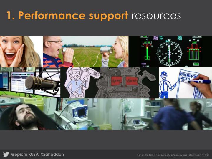 1. Performance support