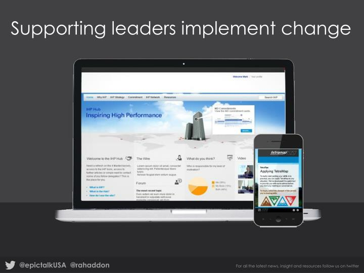 Supporting leaders implement change