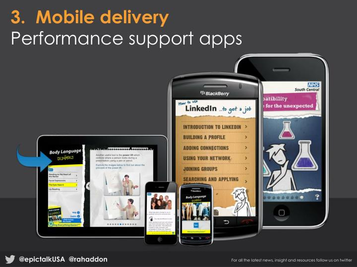 3.  Mobile delivery