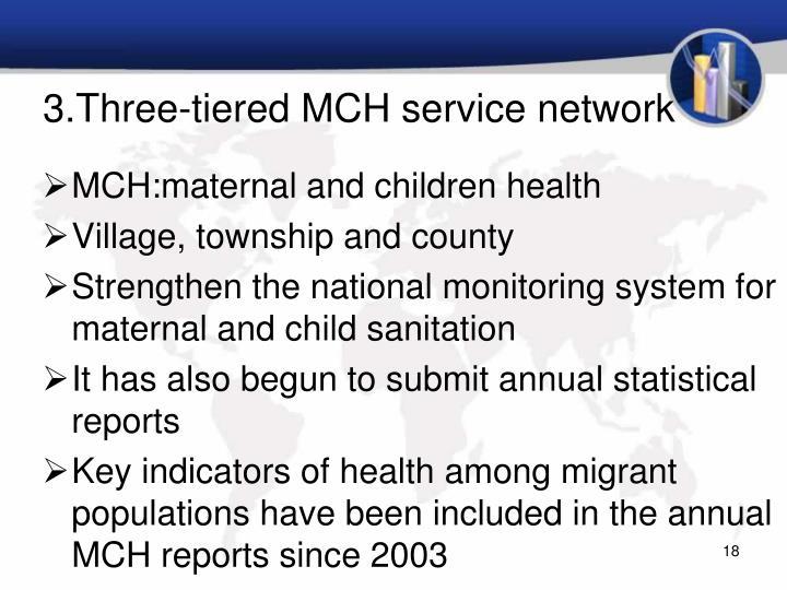 3.Three-tiered MCH service network