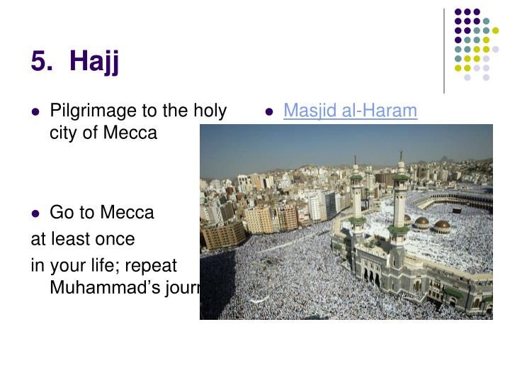 Pilgrimage to the holy city of Mecca