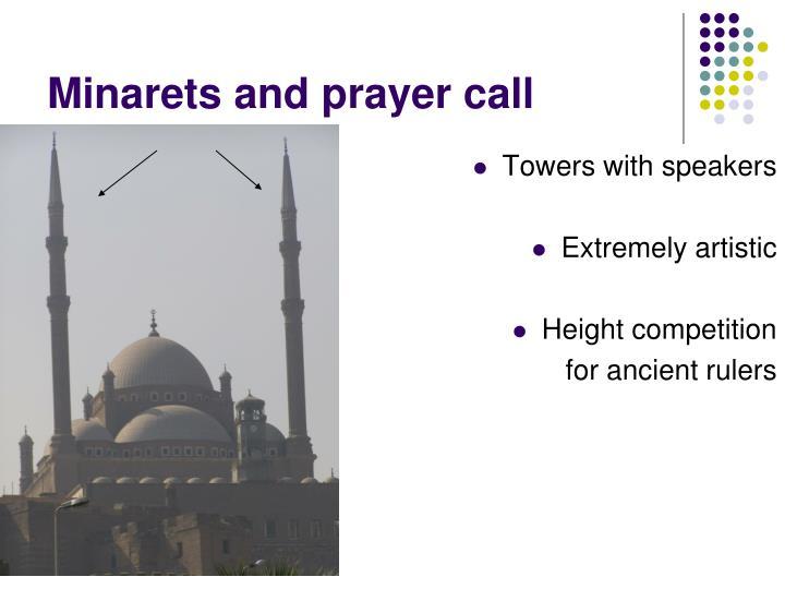 Minarets and prayer call