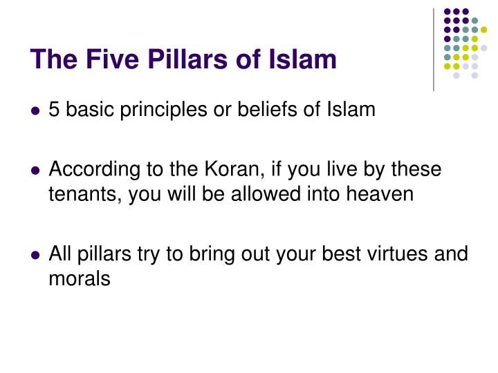 the main principles of the islamic faith according to the koran The main message of all the prophets has always been that there is only one true god and he god will judge each person individually, according to his faith and his good and bad actions god will show mercy and fairness core values of islam (read more) who is.