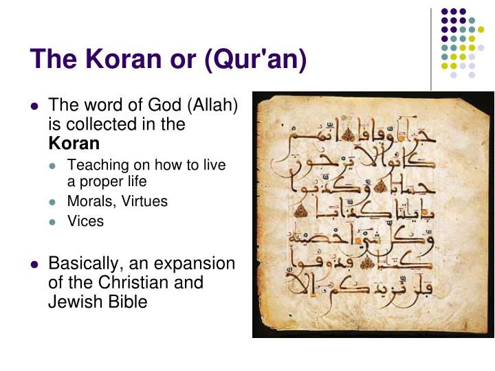 The word of God (Allah) is collected in the