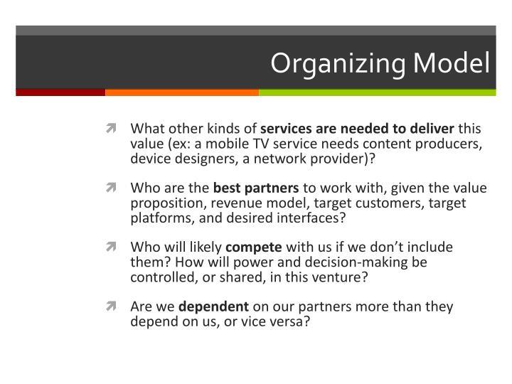 Organizing Model