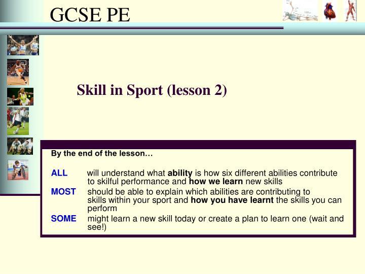 Skill in Sport (lesson 2)