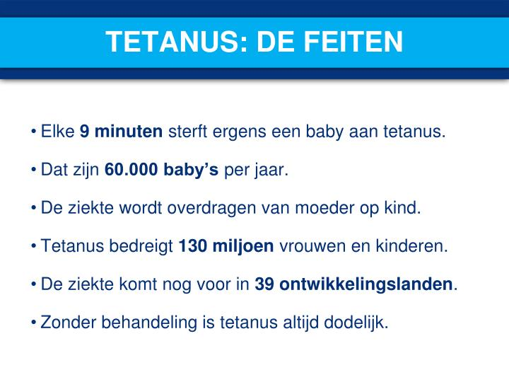 Tetanus: de feiten