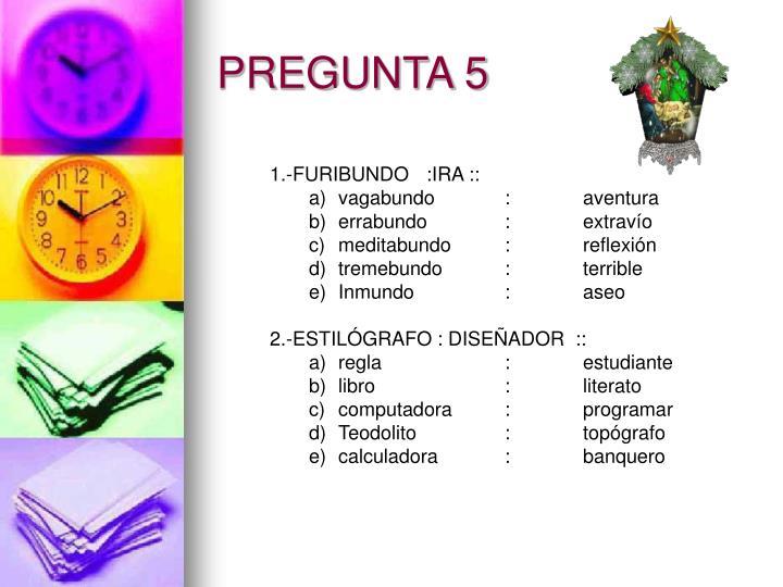PREGUNTA 5