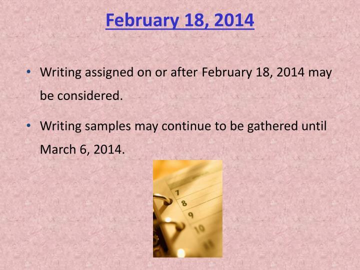 February 18, 2014