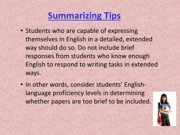 Summarizing Tips