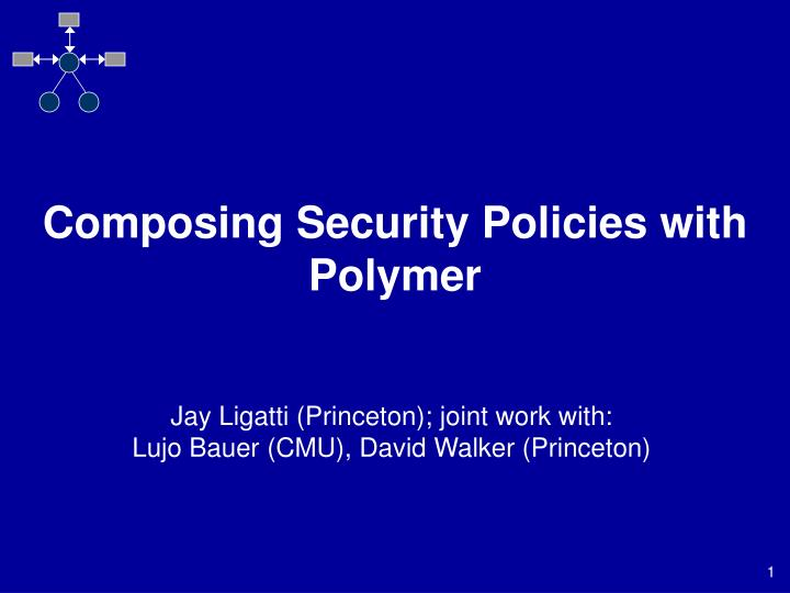 Composing security policies with polymer