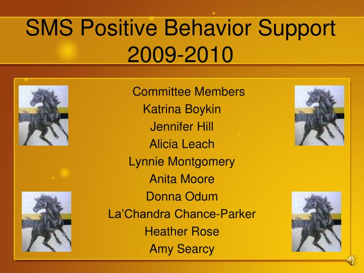 Sms positive behavior support 2009 2010