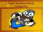 team building activity categories