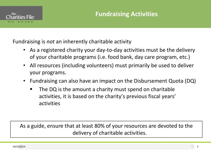 Fundraising Activities
