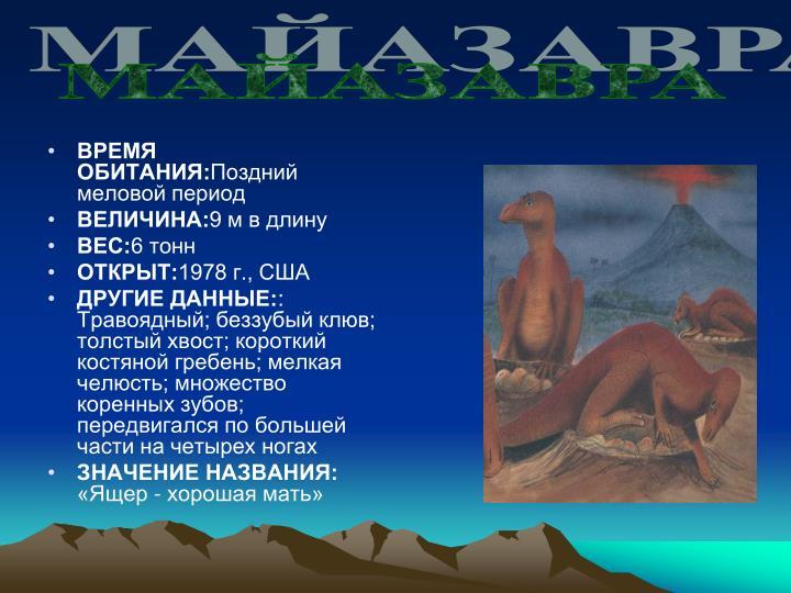 МАЙАЗАВРА