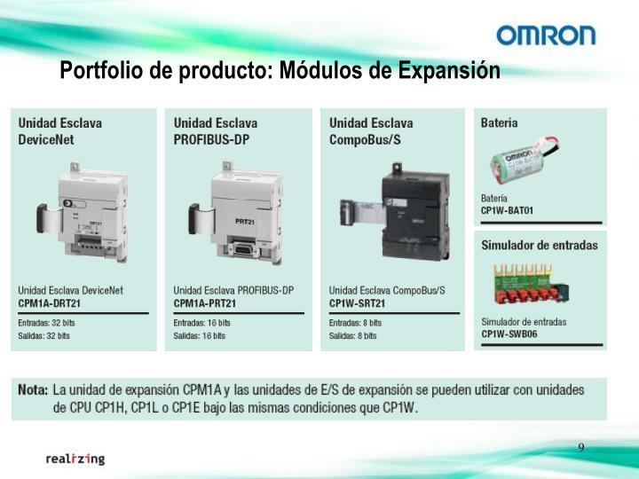 Portfolio de producto: Módulos de Expansión