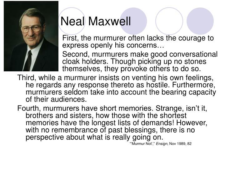 Neal Maxwell