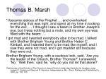 thomas b marsh