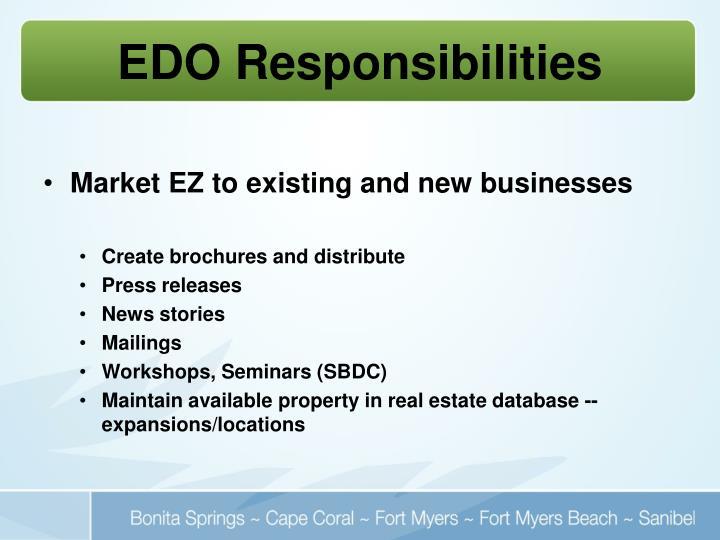 EDO Responsibilities