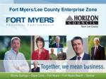 fort myers lee county enterprise zone