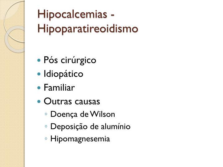 Hipocalcemias