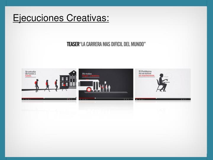 Ejecuciones Creativas: