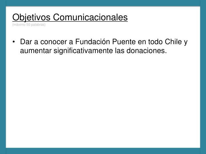 Objetivos Comunicacionales