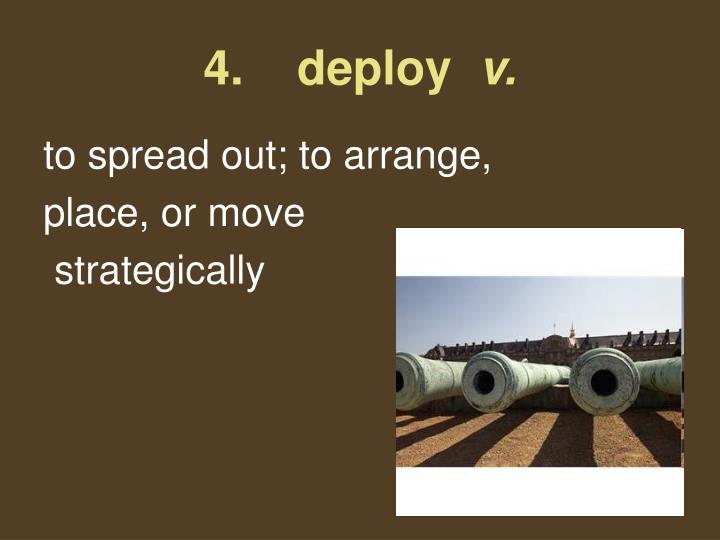 4.    deploy