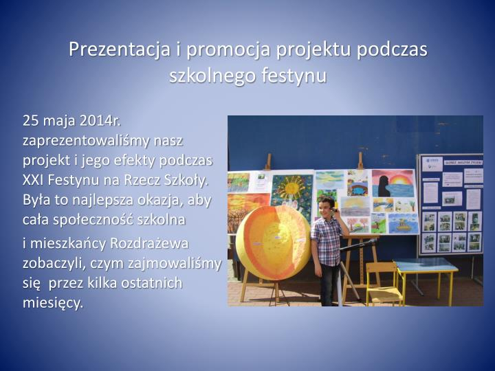 Prezentacja i promocja projektu podczas szkolnego festynu