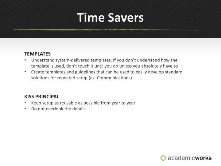 Time Savers