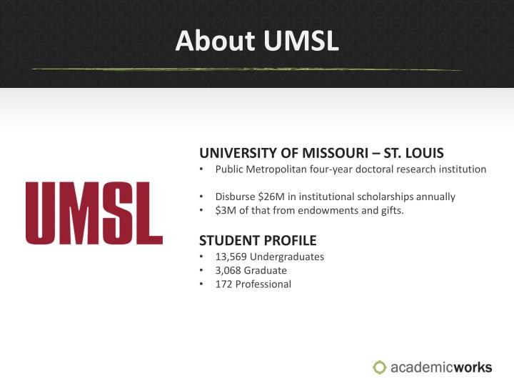 About UMSL