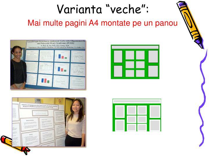 "Varianta ""veche"":"