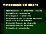 metodolog a del dise o